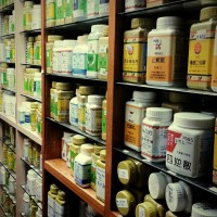 This is the storeroom filled with granulated herbal medicine powders at a Chinese medicine practice where I did some clinical observation in Hong Kong 2013.