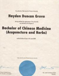 Duncan Grove Degree