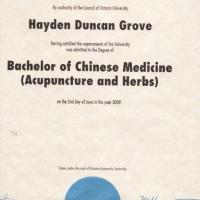 Duncan Grove Degree