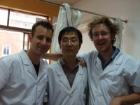 Dr. Nathan, Dr. Zeng and I taking a moment out for a group photo at the No.1 Teaching Hospital of Shandong University of Traditional Chinese Medicine in Jinan city, Shandong province of the P.R.C. in 2007. Good times.