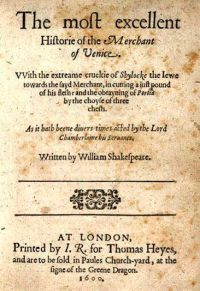 The Merchant of Venice, Shakespeare